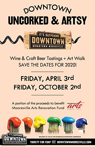 Downtown Mooresville Uncorked & Artsy 2020