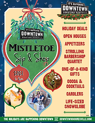 Mistletoe Sip & Shop Poster Icon 2021-01