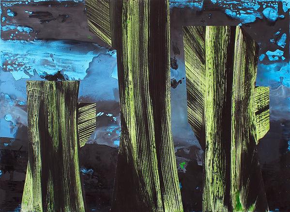 LCU#00229-Sans Titre Vert-bleu #1 130x95