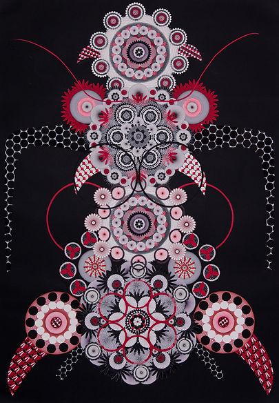 Spirographe 47, 2014, t. mixte,100x70 cm