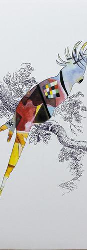 Oiseau Kandinsky (d'Après Jaune-Rouge-Bleu)