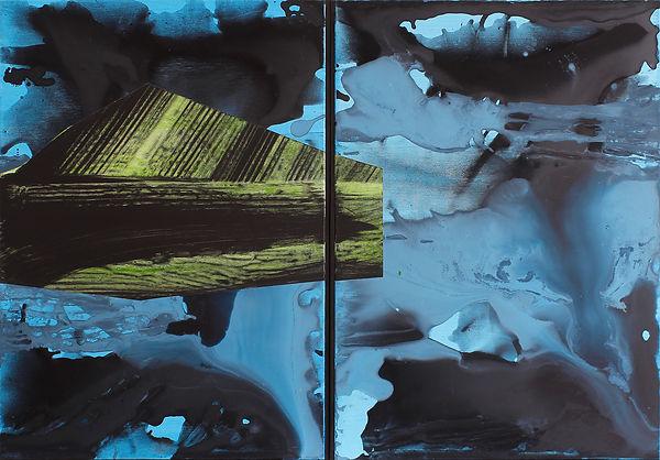 LCU#00228-Diptyique Vert-bleu 92x132 - L