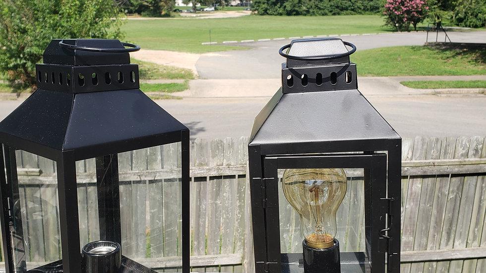 Black table lanterns 120v