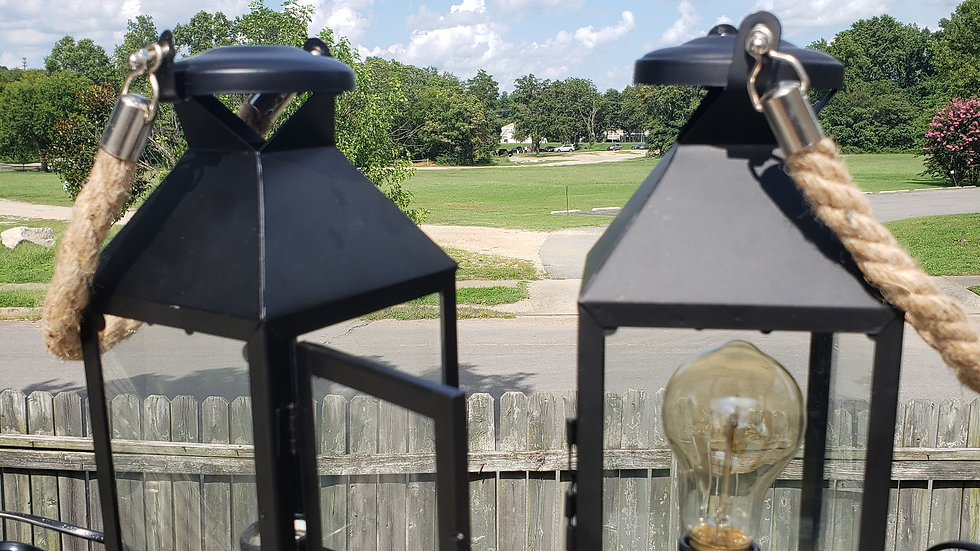 Black 120v Rope Lanterns