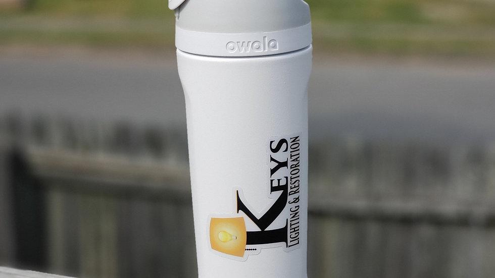 19oz Logo Water bottle white