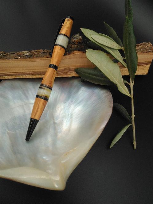 stylo bille olivier et nacre