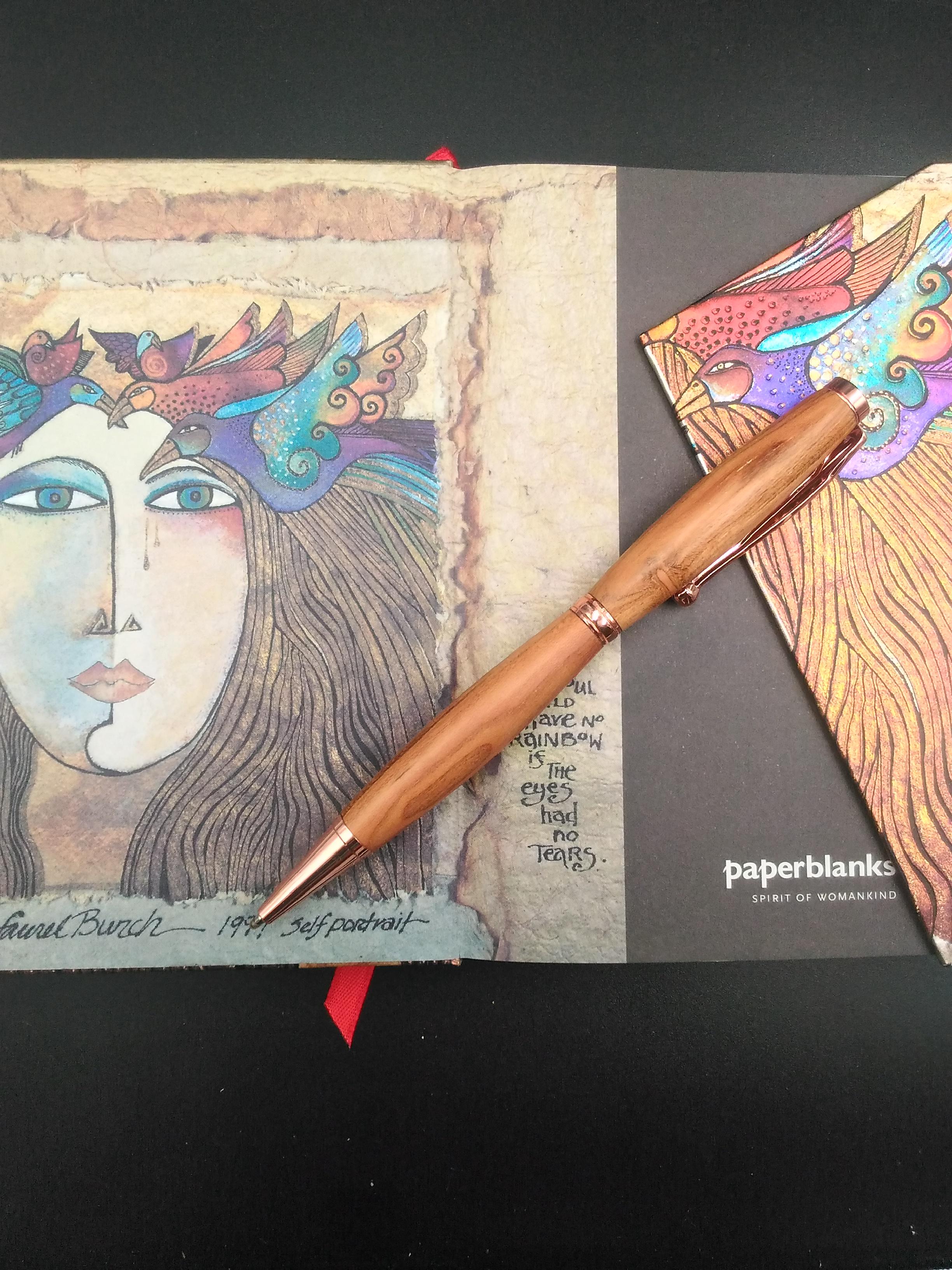 stylo abricotier finition cuivré