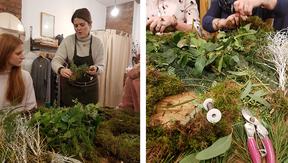 Wreath workshops at Form SE15, Peckham
