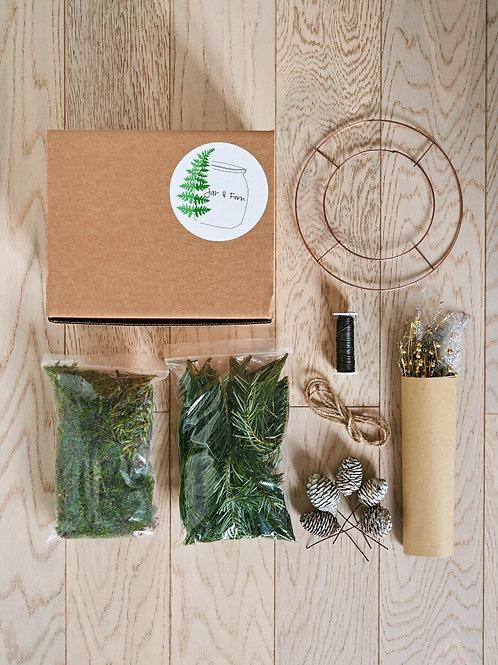 DIY Festive Wreath kit - With instructional sheet