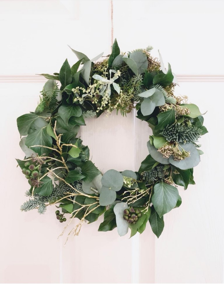 Jar and Fern wreath