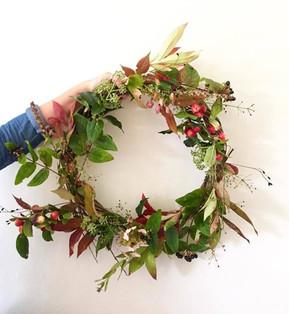 Christmas wreath making workshops in London