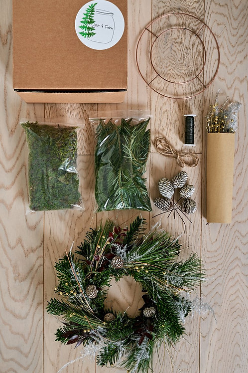 Private DIY Festive Wreath kit - With instructional sheet