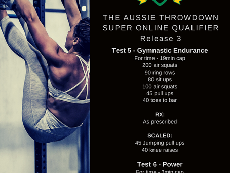 Release 3: Test 5 - Gymnastic Endurance / Test 6 - Power