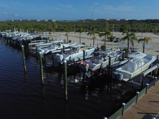 Inlet Harbor Marina offers vertical lifts up to 27,000 lbs capacity.  The lifts provide the combination of   dry storage, with the convenience of a wet slip and 24 hour accessibility.  Lift customers enjoy the same benefits as all other customers with fuel discounts and ice service.  Each customer receives remote control function for their lift, and power and water are available at each slip.