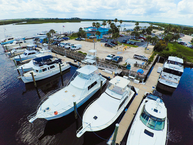 Inlet Harbor Marina is your gateway to Ponce Inlet and offshore excursions.  With close proximity to the inlet, we have all the amenities you need to berth your offshore vessel and provide a home base for those who love offshore fishing.  Wet slip customers enjoy the benefits of fuel discounts, ice service, & Wi-Fi.  Our wet slips are floating concrete docks with power and water, accommodating vessels up to 75'.