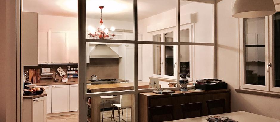 Cucina e parete divisoria