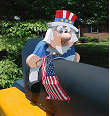 Uncle Sam Mailbox Sitter