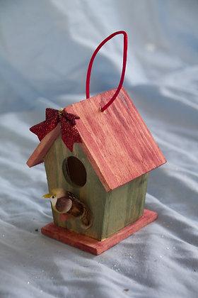 Medium Bird House Ornament