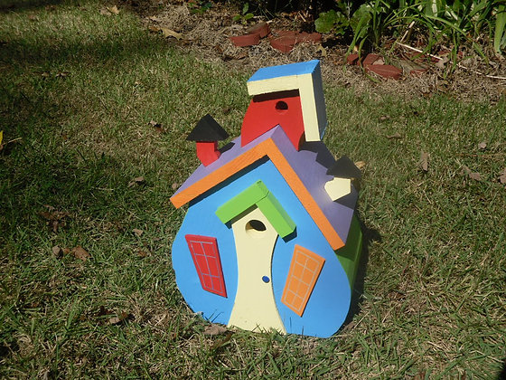 """Bear-Ville"" Single Bird House #3"