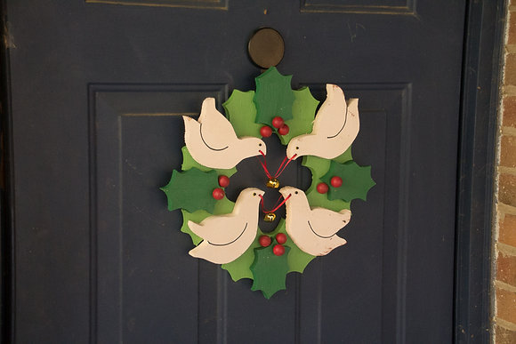 Dove & Holly Wreath