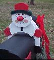 Snowman Mailbox Sitter