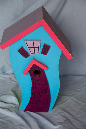 """Bear-Ville"" Single Bird House #1"