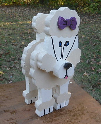 French Poodle Large Layered Pet Sitter