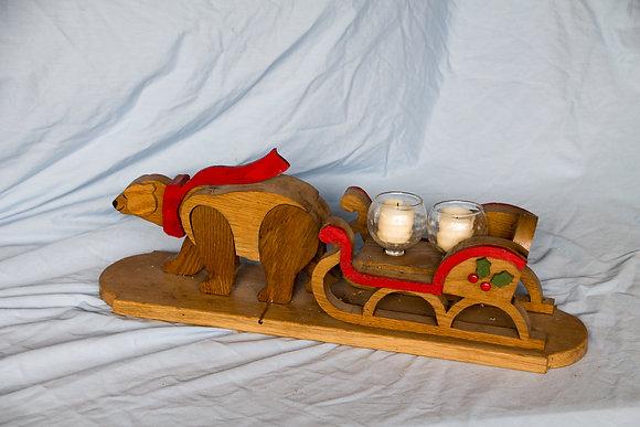 Oak Bear Candle Holder
