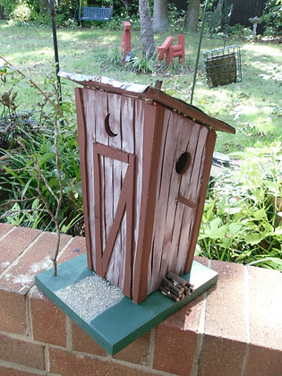 Rustic Outhouse Bird House
