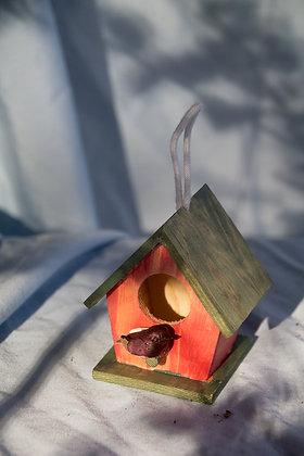 Small Bird House Ornament