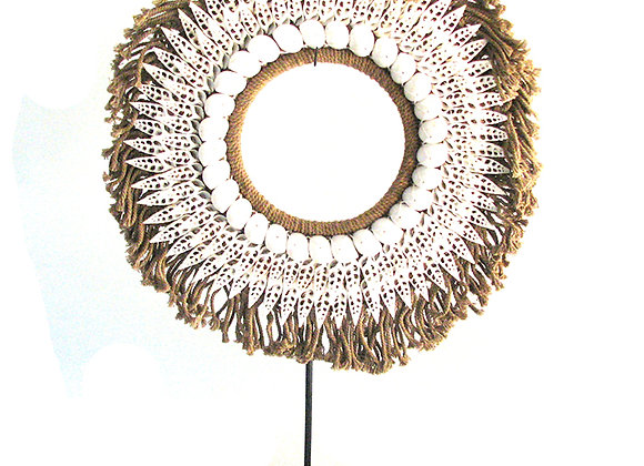 Macrame round with shell detail
