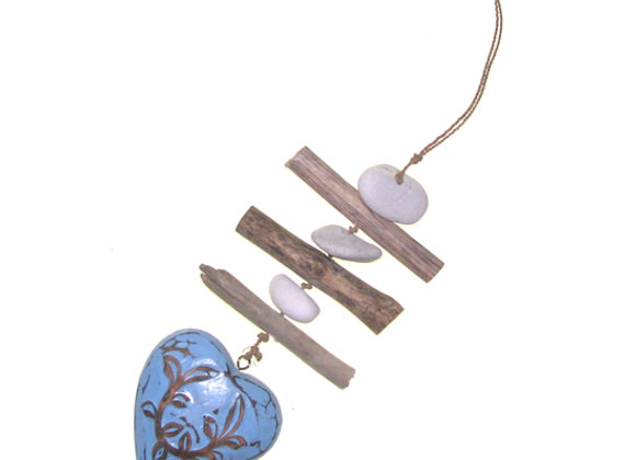 Hanging Heart String Blue Passion