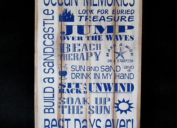 Wall Plaque Ocean Memories