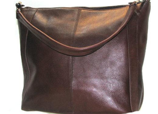 Leather handbag, Chocolate 'Victoria' Shoulder  Satchel.