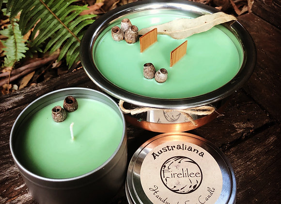 Soy Candle Woodwick Pot, Australiana