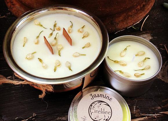 Soy Candle travel tin, Jasmine