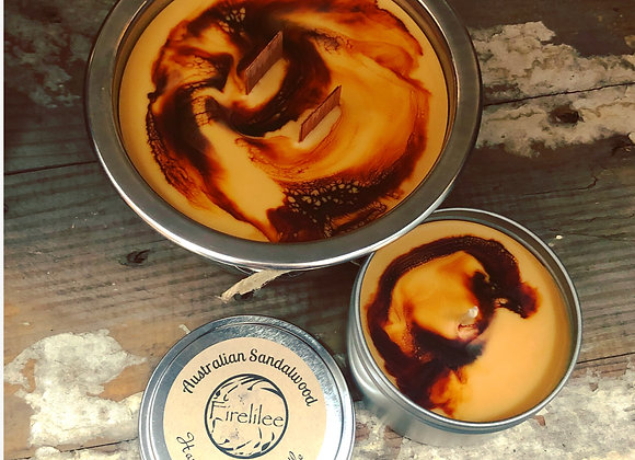 Soy Candle Woodwick Pot, Australian Sandalwood