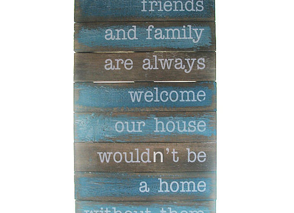 Wall Plaque 'Friends & family'