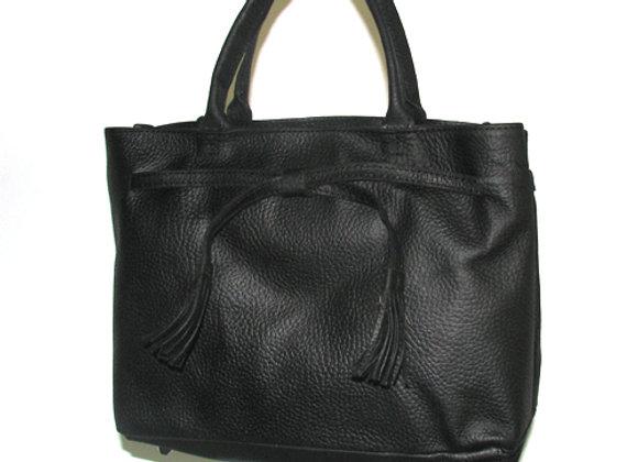 Leather Handbag, 'Smitt' Shopper Tote, Black.