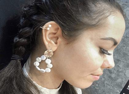 Earrings, Circle of pearls