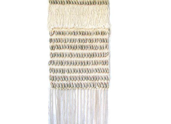 Macrame long shell wall plaque