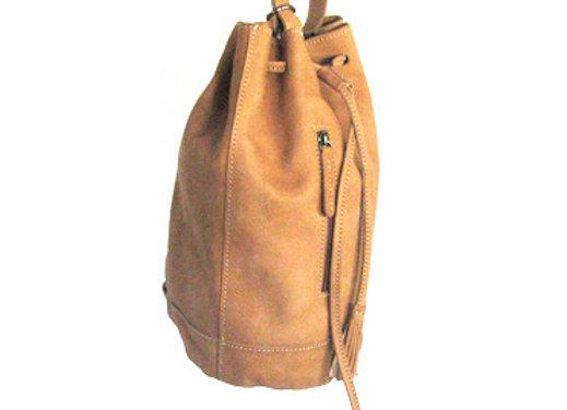 Leather Handbag, Duffel Style.