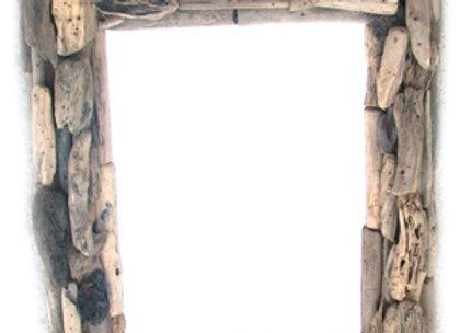 Rect Driftwood mirror 50x60
