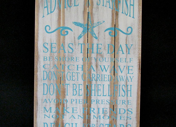 Wall plaque 'Advice from a starfish'