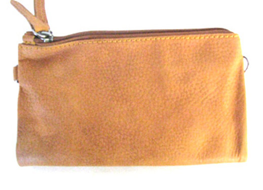 Leather Fold out clutch/shoulder bag.