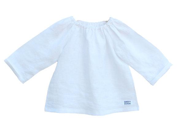 Dukes & Dutchesses - White long Sleeve linen top