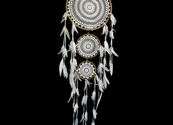 Dreamcatcher rope/feathers lg