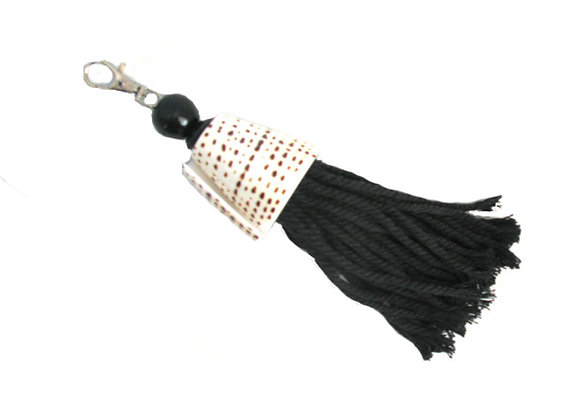 Keyring with shell olon blk