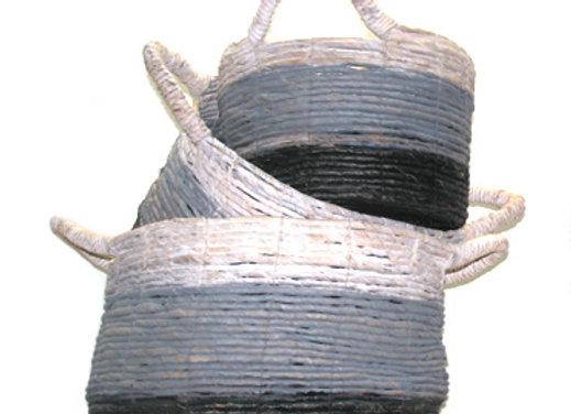 Basket Set 3 grey/white