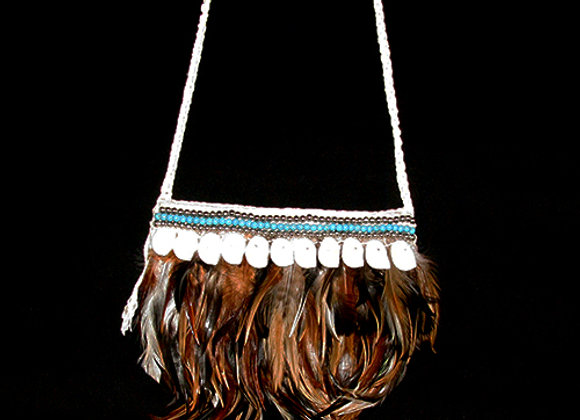 Bag Feather shell Medium White